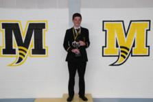 Michael Stewart who won the Year 9 Boys trophy