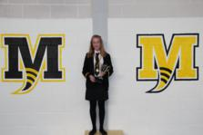 Chloe jones who won the Year 9 Girls trophy