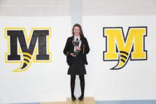 Joanna Gorman who won the Year 10 Girls trophy